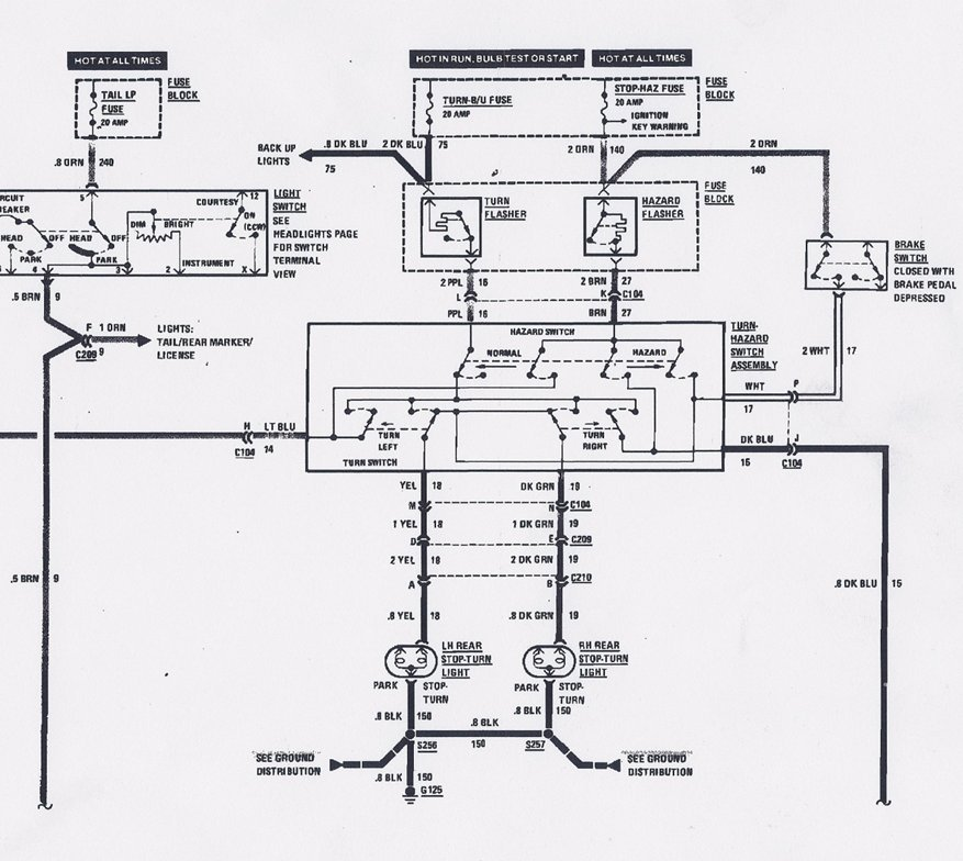 turn signal switch wiring diagram  eljac, wiring diagram